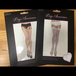 Leg Avenue Thigh Highs With Lace Top